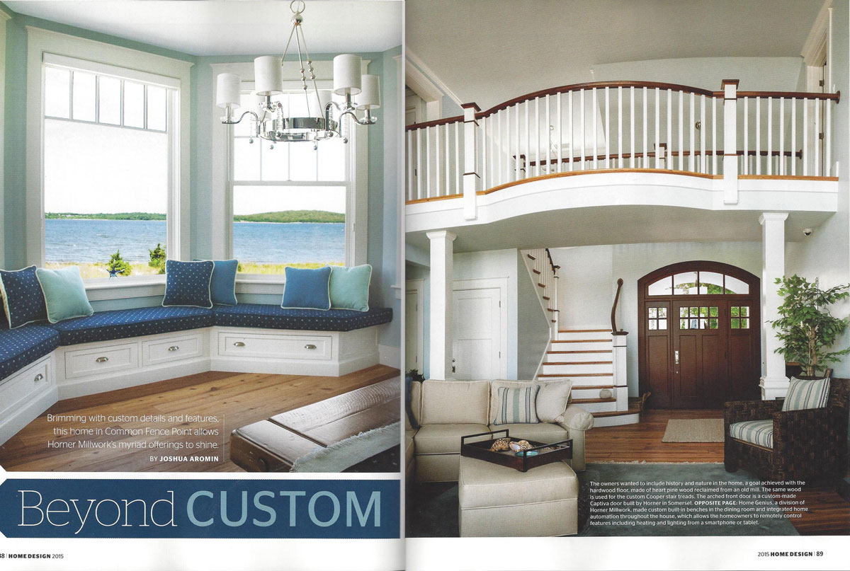 PJR Construction Rhode Island Monthly Home Design Spread
